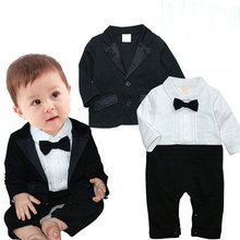 Formal Newborn Romper Clothes for Boy Wedding Suits Outerwear Sets infant Clothing Suit Bow Lie decorate Gentleman Boys Jackets
