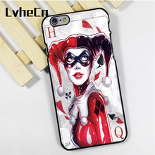 LvheCn phone case cover fit for iPhone 4 4s 5 5s 5c SE 6 6s 7 8 plus X ipod touch 4 5 6 Harley Quinn Original Comic Art Amazing
