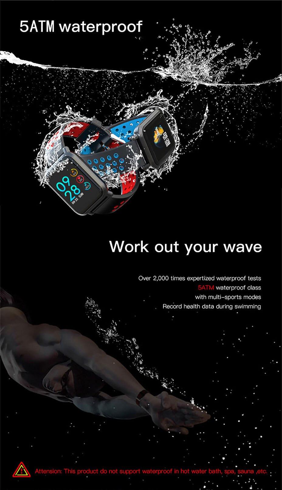 COLMI Smart Watch Men Tempered glass Fitness Tracker Blood pressure IP68 Waterproof Activity Tracker Women Smartwatch 5