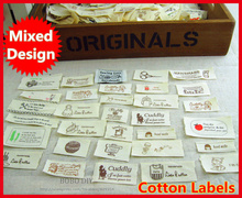 Min.order is $5 (mix order),10pcs/lot cotton sewing Labels Zakka cute design perfect for DIY projects,F005#