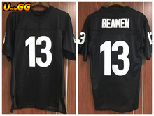 Uncle GG Willie Beamen 13 Any Given Sunday Sharks American Football Jersey Jamie Foxx Black Sportwear Shirt Top Quality(China)