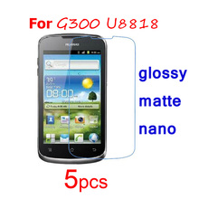 5pcs HD Clear/matte/Nano anti Explosion protective Films for Huawei Ascend G300 U8818 GX1 H891 G500 Pro U8836D Screen Protector
