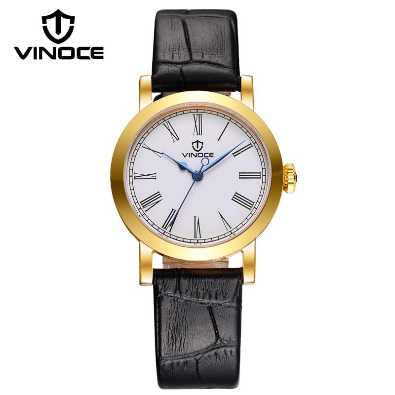 VINOCE New Arrival Business Wrist Watches For Women Vintage Genuine Leather Montre Femmes Wholesale Waterproof Ladies Clock 2016<br><br>Aliexpress