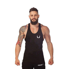 Large yards wide vest  fitness apparel small wings exercise deep muscle male cotton vest