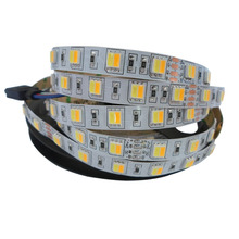 5mX Promotion high quality 5050SMD LED strip color temperature adjustable double color CW + WW 60LED/m led strip free shipping