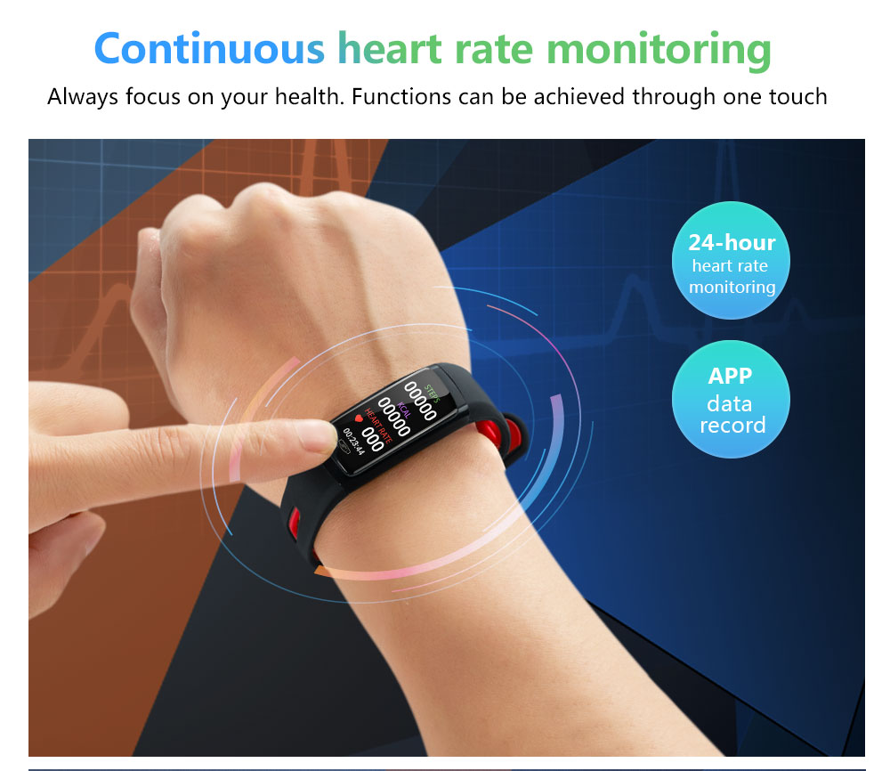 CD09 Smart Wristband Cicret band Watch Heart rate monitor Smartband Pulsometer Sport health Fitness Bracelet tracker for IOS (6)