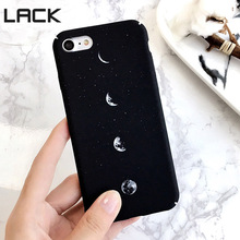 LACK Simple Pattern Space Eclipse of the Moon case For iPhone 6 Hard frosted Fashion phone cases Back Cover For iphone 6 6S Plus