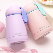 300ML Vacuum Insulated Double Wall Water Bottle Cute Rabbit Drinking Cup Leak proof Mug Cup Coffee Thermos Mug Water Bottle(China)