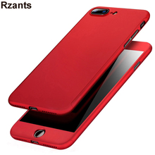Red Special Edition 360 Full For iPhone 7 Case +  Screen Protector For iPhone 7 Plus Luxury Fashion Ultra Thin Body Cover