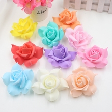 10pcs Foam Artificial flowers Pentagon Rose Hydrangea Flowers For Wedding Car Decoration Wreath Decorative Scrapbooking Flowers(China)