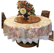 European style garden round table cloth, cloth circular tablecloth, home coffee table cloth, broken flower bud, silk cloth, tabl(China)