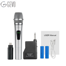 PC-K6 Wireless Microphones professional Microphone Condenser With Receiver Uhf Dynamic Mic For karaoke KTV System Studio, stage(China)