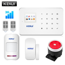 Kerui Update New Version GSM homesecurity alarm system with touch screen TFT color display Easy Operation support 3G signal