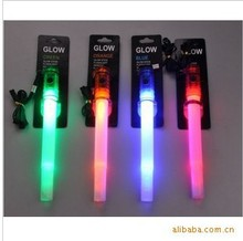 Multi-function Signal Stick 4in1 Stick LED Glow Stick Fluorescent Sticks RescueLight Up Whistle 3 Flashing Modes(China)