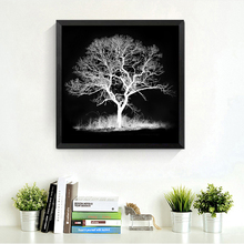 black white tree decorations modular pictures spray painting on the wall modern paintings prints posters canvas pictures HD2050(China)
