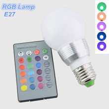16 Colors RGB LED Night light E27 5W 110V - 220V Christmas Decor Atmosphere LED Lighting With IR Remote Controller Lampada Led