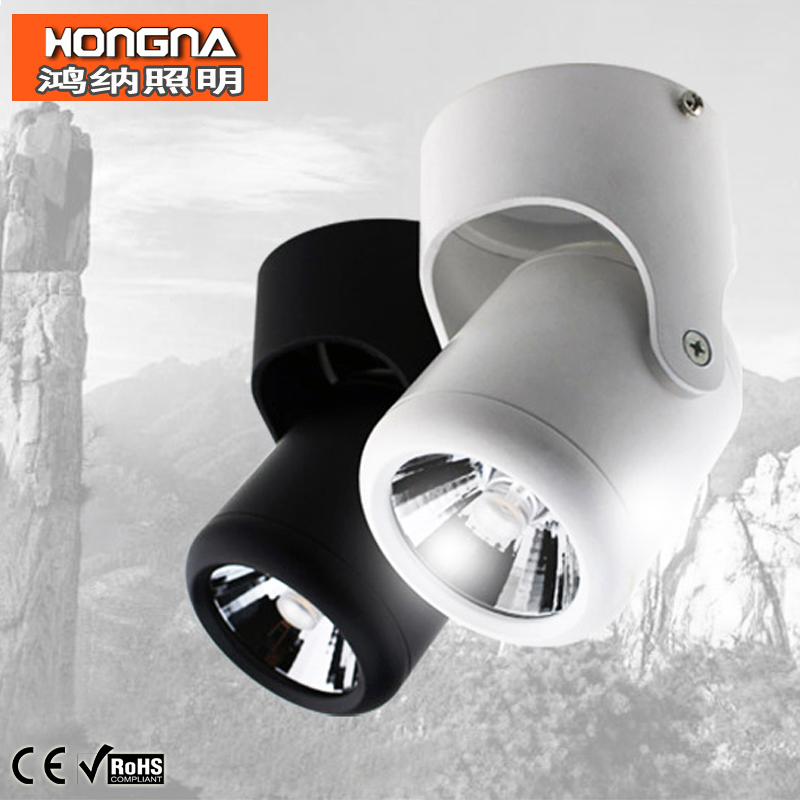 COB 5W 7W 12W 15W LED Downlights Surface Mounted Downlight LED Lighting Angle-adjustable+ AC110/220V Driver<br><br>Aliexpress