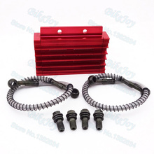 Pit Dirt Bike CNC Cooling Radiator Oil Cooler Kit Red For 125cc 140cc YX Lifan Zongshen Motorcycle Motocross