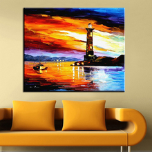2016 Special Offer Fallout Paintings Free Shipping Painting On Canvas Lighthouse Wall Pictures For Living Room Home Decoration