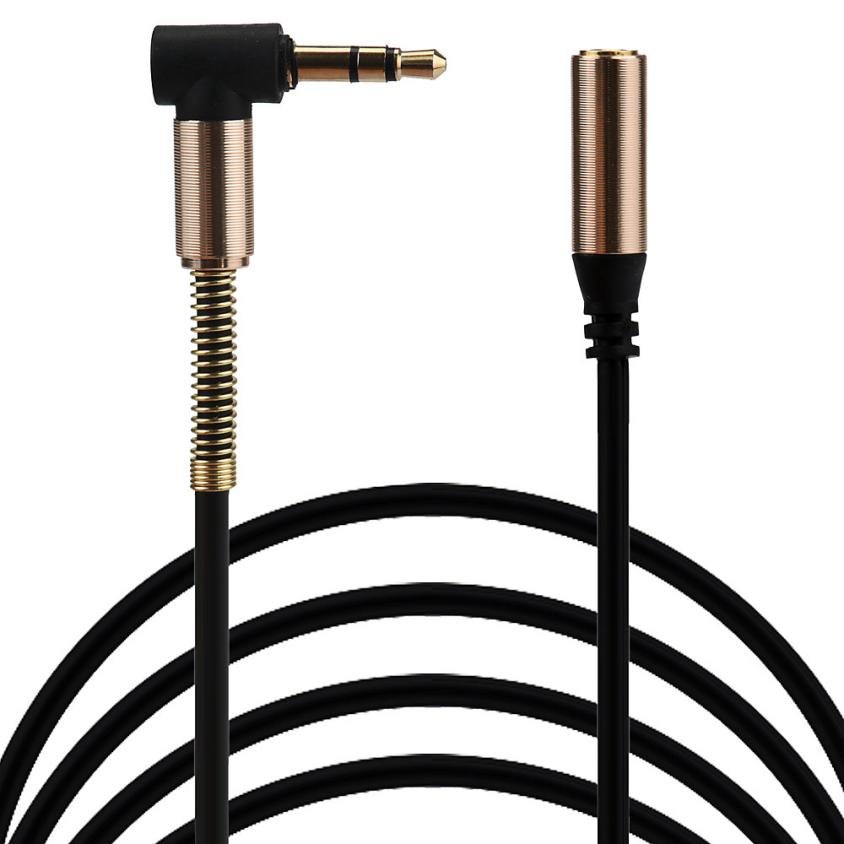 2017 New 100cm 3.5mm Jack Elbow Male Male Stereo Headphone Car Aux Audio Extension Cable iphone 7 SamsungS8
