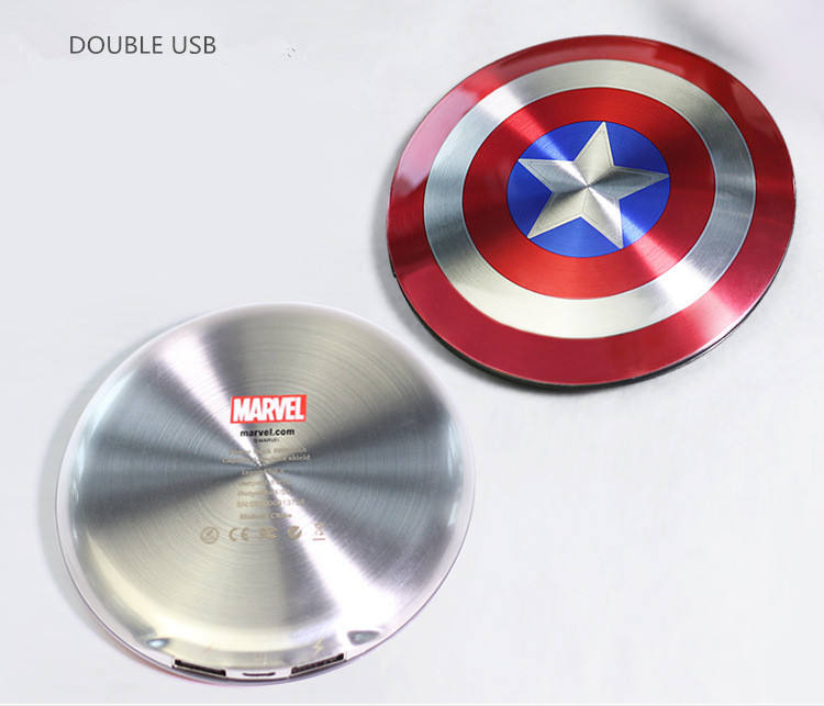 Avengers Captain America Shield font b Power b font font b Bank b font Charger USB