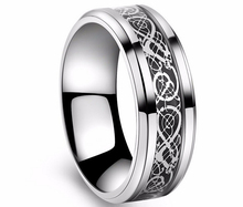 Never fading Men Ring Black silver Color Wedding Rings For Men Jewelry Stainless Steel Ring USA SIZE 6-14 drop shipping