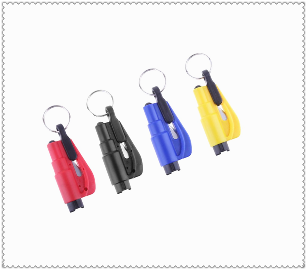 Car Keychain Mini Safety Hammer Lifesaving Escape Personality Wear for Renault Megane Kadjar EZ-GO Captur Arkana Zoe