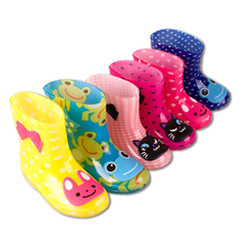 Children Baby Rubber Boots Boys Girls Rain Boots Cartoon Anti-Slippery Children Shoes Loverly Rainboots Kids Child Boots 2017