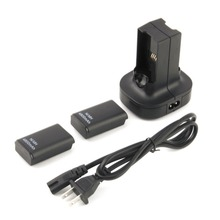 High Quality 2pcs 4800mAh Rechargeable Battery + Charging Station Charger Dock For Xbox 360 Hot Sale in stock!!!(China)