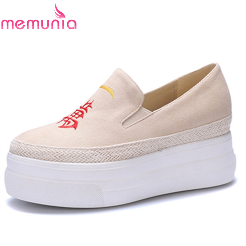 MEMUNIA pumps women shoes high heels casual shoes spring sunmer autumn fashion leisure simple wedges round toe sweet shoes<br>