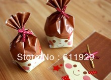 Lovely Fun Face Printed Cello & Candy Bag 14cmx21cm , Free shipping, 200pcs/lot, toast food packing organza bags, candy pouch