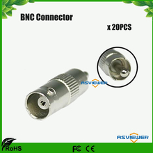 High Performance BNC connector Female Jack to RCA Male Plug Adapter BNC/F-RCA/M 20pcs/lot(China)