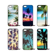 For iPhone 4 4S 5 5C SE 6 6S 7 Plus Samsung Galaxy Grand Core Prime Alpha Tropical Island Palm Tree Beach Phone Case Cover