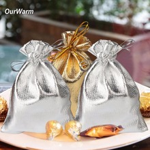 OurWarm 100Pcs Candy Box for Wedding Decoration Organza Pouches Wedding Party Favors Gifts Bags for Guest Valentine's Day(China)