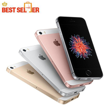 Original Unlocked Apple iPhone SE Dual Core Cell Phones 12MP iOS Fingerprint Touch ID Sealed Phone 2GB RAM 16/64GB ROM
