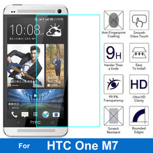 For HTC One M7 Tempered Glass 9H 2.5D Protective Film M 7 801S 801E 801N 801D 802T 802D 802W Dual Sim Screen Protector case(China)