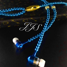 Women Pearl Necklace Headset High quality Cheapest Earphone Headphone For Girls for iPhone Android phone/mp3 player