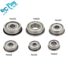 10pcs Flange Ball Bearings F604ZZ F623ZZ F624ZZ F625ZZ F684ZZ F688ZZ 3D Printers Parts Deep Groove Pulley Wheel Aluminium Part(China)