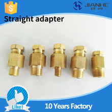 Buy JIANHE JS type Compression Fitting 4mm/ 6mm lubrication Brass oil Pipe Fitting CNC Machine/ lubricating system