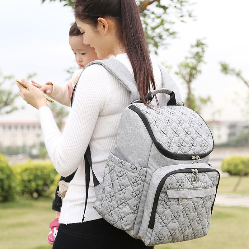 Diaper Bag Fashion Mummy Maternity Nappy Bag Brand Baby Travel Backpack Diaper Organizer Nursing Bag For Baby Stroller Wetbag (4)