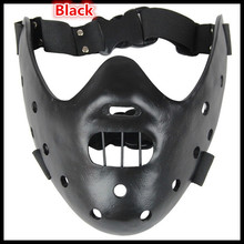 Free shipping Party Cosplay Silence of the Lambs Hannibal Lecter Resin Mask Craft Halloween Christmas Cool Gift Party Decoration
