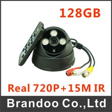 2pcs 128GB CCTV Camera, 720p + 15m Night Vision, for Home,office,warehouse Used(China)