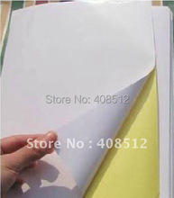wholesale A4 blank white coated glossy self-adhesive label sticker A4 label paper can be printed by laser printer(China)