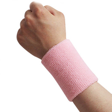 1Pcs Unisex Cotton Brand Sports Band Wristband Wrist Support Protector Sweatband Basketball/ Tennis/ Badminton Sports Safety