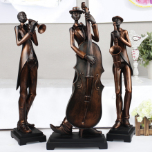 Characters sculpture art decoration luxury living room furnishings statue home decor music simple modern ornament 3pcs/set(China)