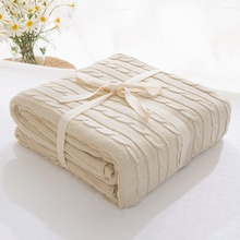 Soft Blankets for Beds Cotton Blanket Bedspread Bedding Knitting Patterns Blanket Air Conditioning Comfy Sleeping Bed Bedspreads(China)