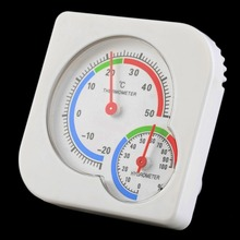 2017 New Useful Nursery Baby House Room Mini Thermometer Wet Hygrometer Temperature Meter(China)