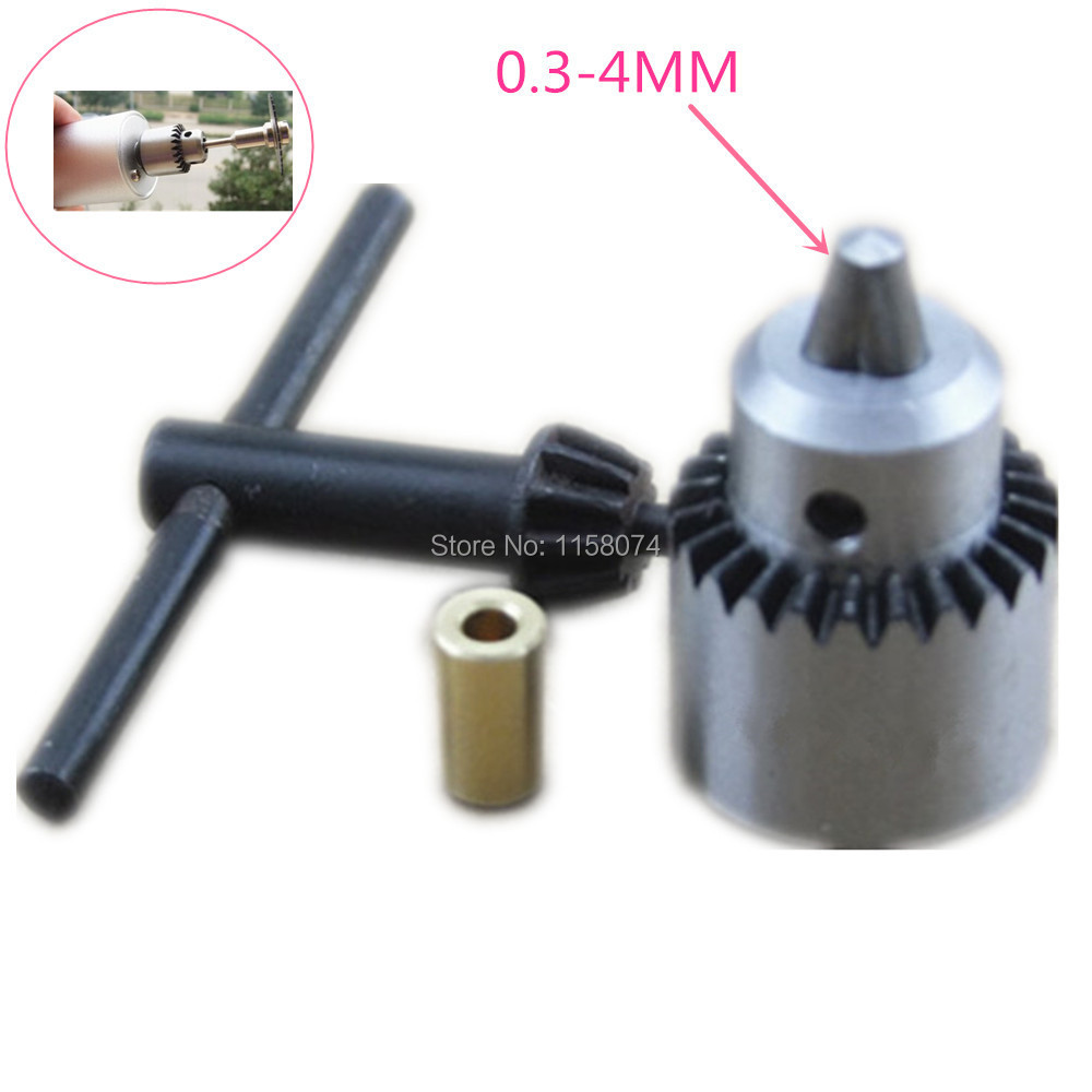 "0.3mm-4mm JT0 Motor Drill Chucks W/ Key&3.17mm 1/8"" Shaft Connecting Rod Electric Drill Grinding Impact Drill Chuck Power Tool(China)"