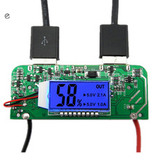 Dual USB 5V 2.1A 1A Mobile Power Bank Charger PCB Board Boost Step up Power Module LED Screen Display for 18650 Battery DIY 65*2(China)