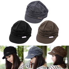 Korean Version Spring and Winter Gorro Cap Lady's Fashion Drape Delicate Women Hats 3 Solid Color High Quality Free Shipping Hot(China)